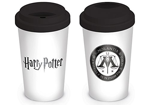 Harry Potter - Ministry of Magic - Coffee-To-Go-Becher (mit Silikondeckel)