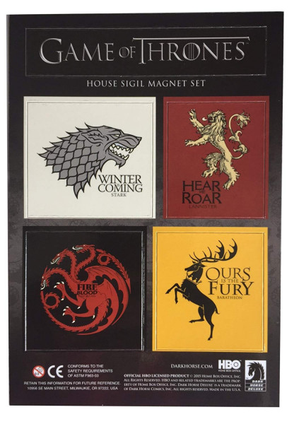 Game of Thrones - Häuser Wappen - Magnet Set