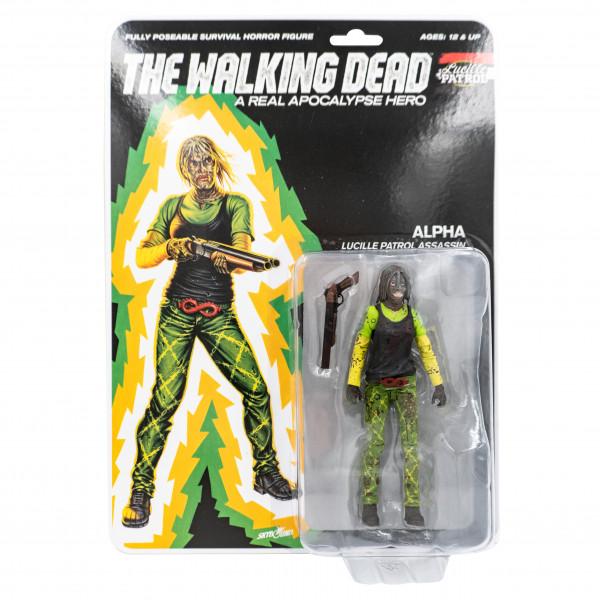 The Walking Dead - Action Figure - Shiva Force - Lucille Patrol Assassin - Alpha (blutig)