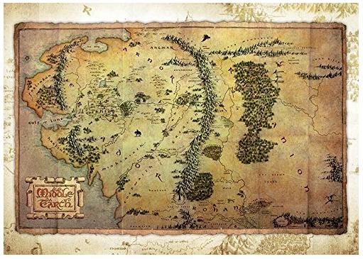 Der Hobbit - Mittelerde - Postkarte