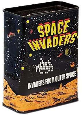 Space Invaders - Spardose Blech