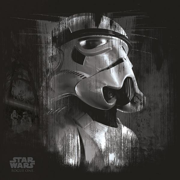 Star Wars Rogue One (Stormtrooper Black) - Kunstdruck auf Leinwand