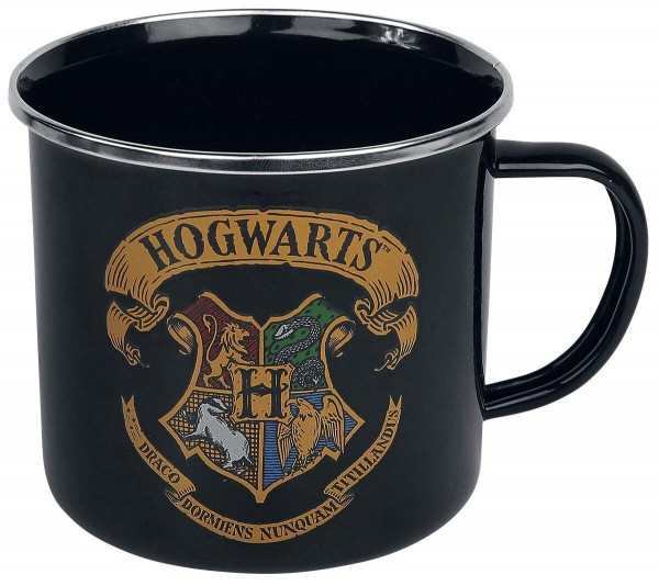 Harry Potter - Emaille Tasse - Hogwarts Logo