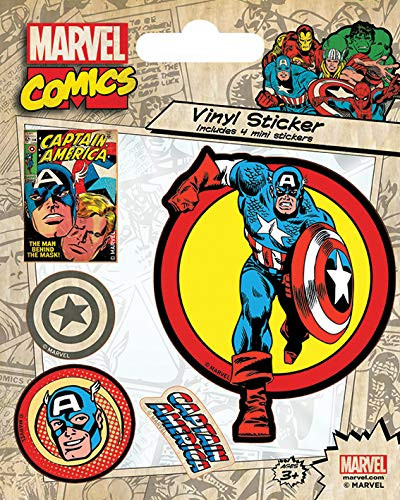 Marvel - Captain America Vinyl Sticker Set