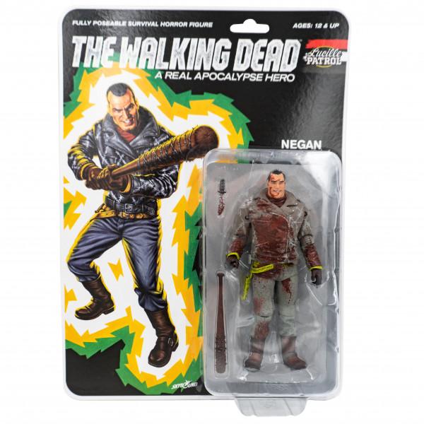 The Walking Dead - Action Figure - Shiva Force - Lucille Patrol Headbasher - Negan (blutig)