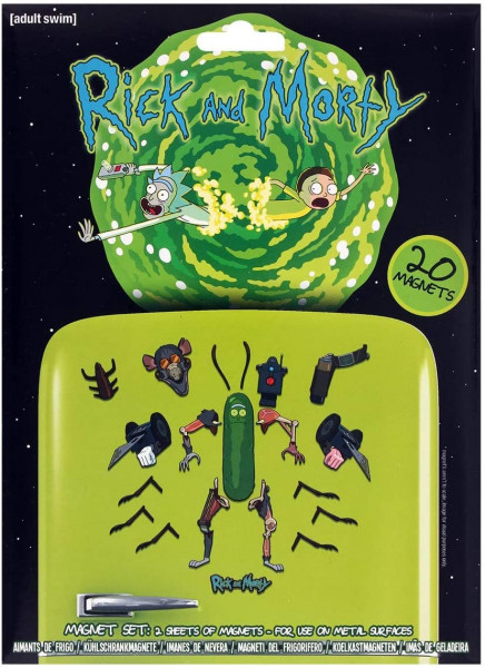 Rick and Morty - Magnet Set mit 20 Magneten