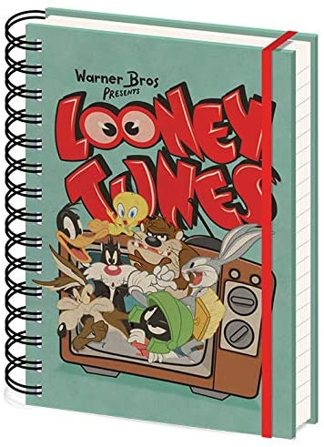 Looney Tunes - Retro TV A5 Wiro Notizbuch