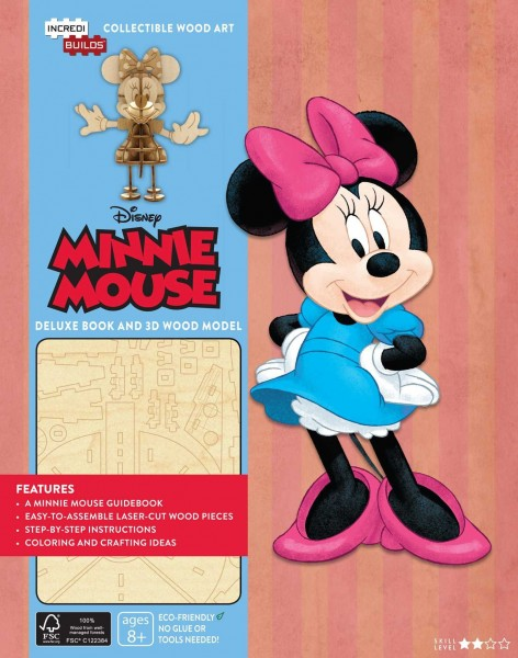 IncrediBuilds: Walt Disney: Minnie Mouse Deluxe Book and Model Set