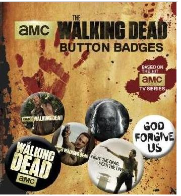 The Walking Dead - Badges Button Set