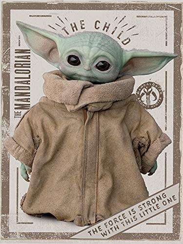 Star Wars: The Mandalorian (The Child) - Kunstdruck auf Leinwand